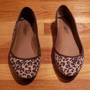 Lucky Brand | Leopard print Emmie ballet flats 7.5